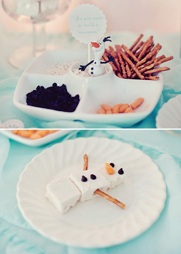 build a snowman frozen party activity