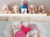 bunny rabbit party cookies