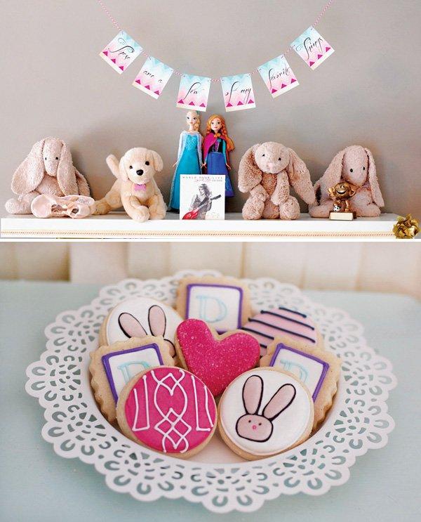 bunny rabbit party cookies