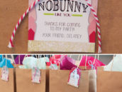 cotton bunny tail party favor bags