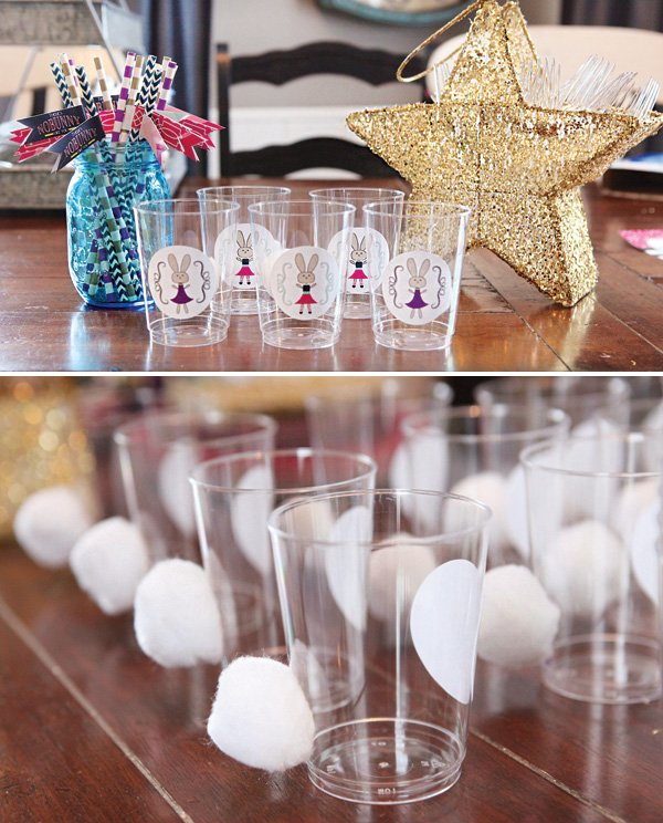 cotton bunny tails party drinks
