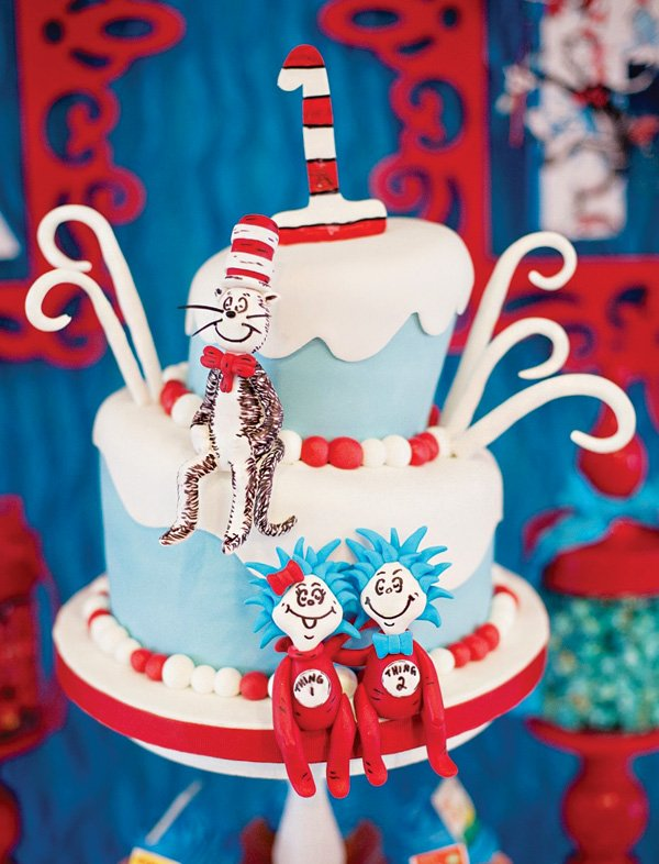 Awe Inspiring Celebrating One Is Fun With Thing 2 Thing 1 Cat In The Hat Personalised Birthday Cards Veneteletsinfo