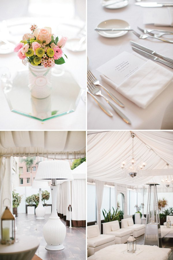 clean white birthday party decor and venue
