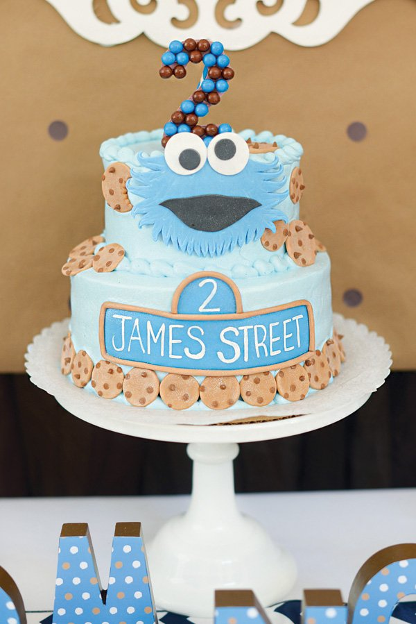 Sweet Chocolate Chip Cookie Monster Birthday Party Hostess with