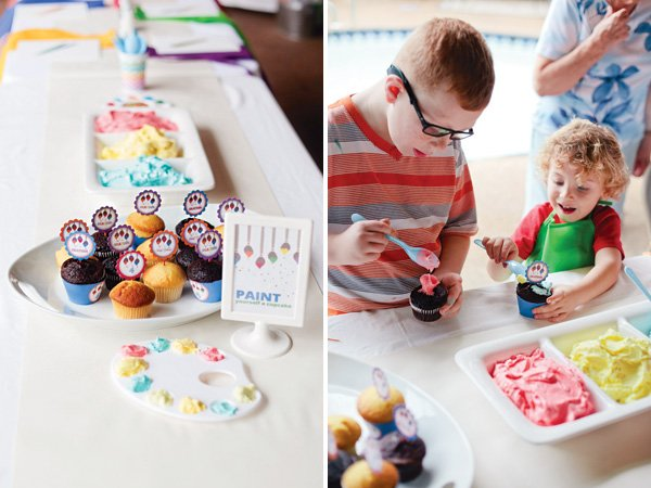 cupcake decorating birthday party