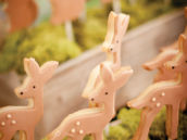 woodland deer cookie pops