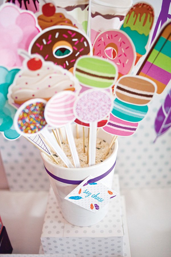 dessert foods photo booth props
