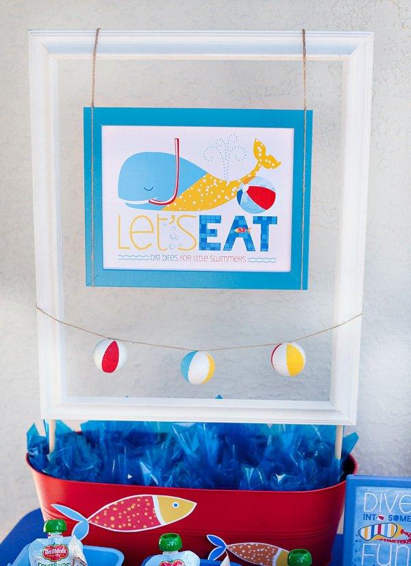 DIY beach ball party decorations