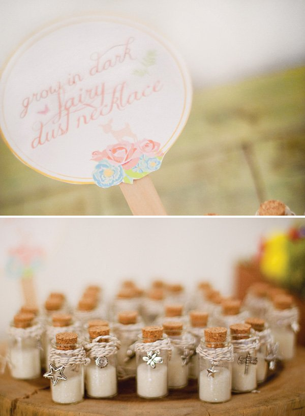 fairy dust bottle necklace party favors