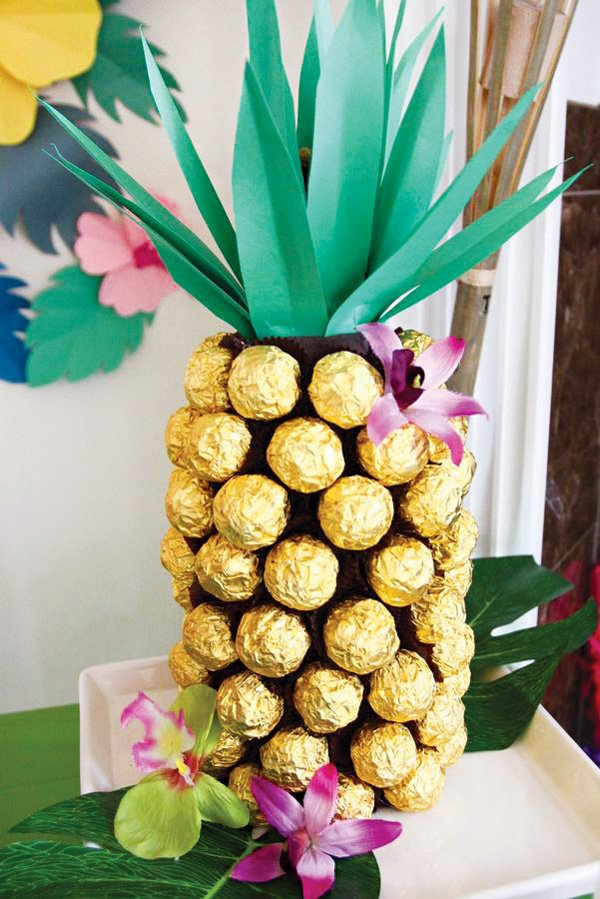 ferrero rocher homemade chocolate 'pineapple'