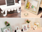 first birthday photo table
