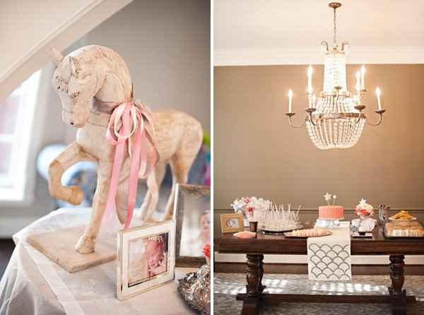 formal, sweet and sophisticated first birthday party decor