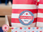 Patriotic Popcorn with Free Printable Labels
