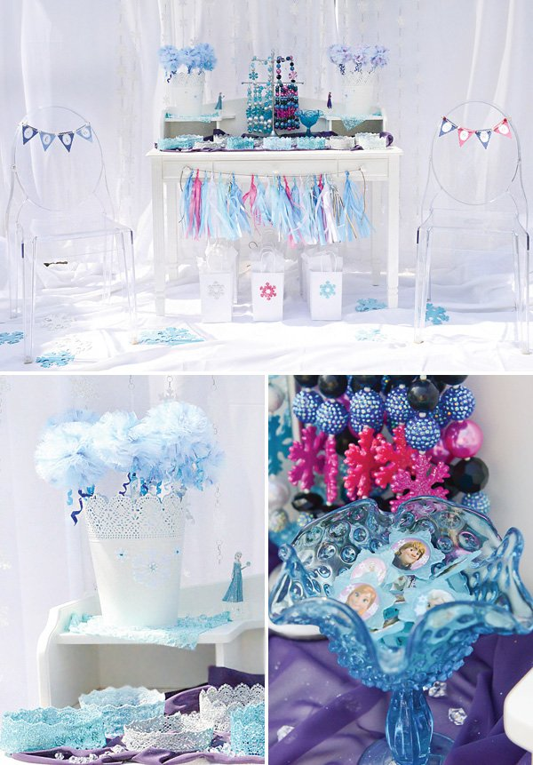 frozen birthday party dress up station