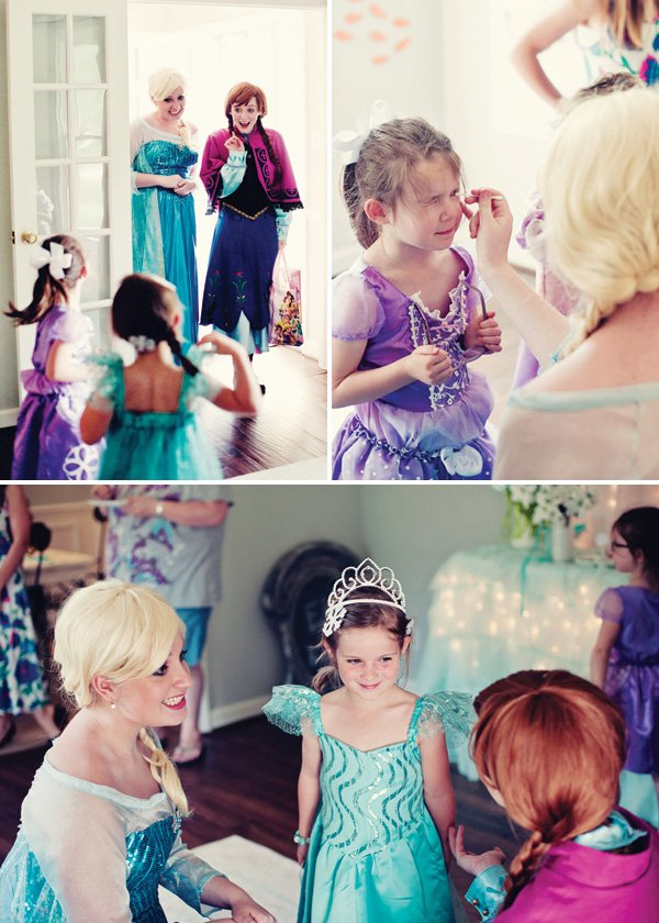 girl's princess party makeovers