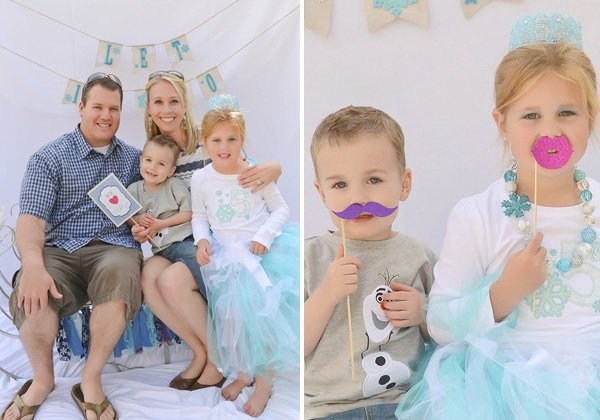 frozen birthday party photo booth props