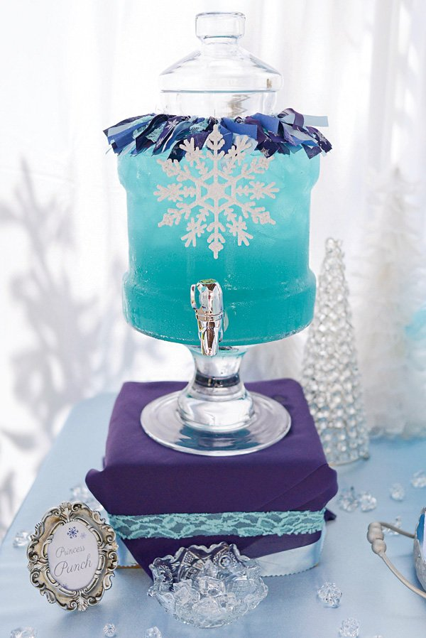 frozen themed blue princess punch