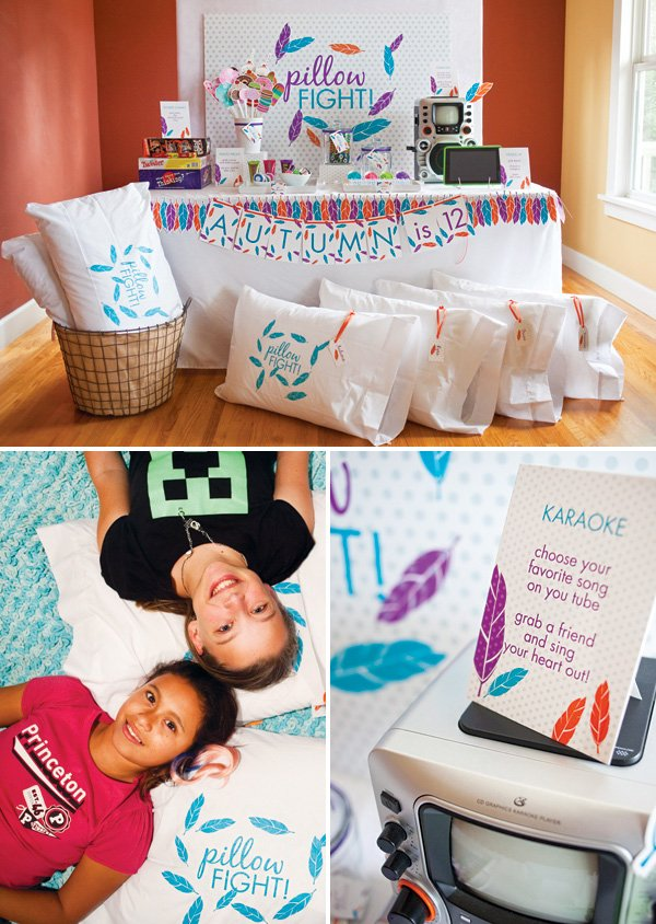 girl's sleepover birthday party