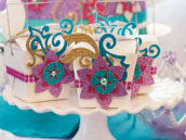 glitter and rhinestones mermaid party favors