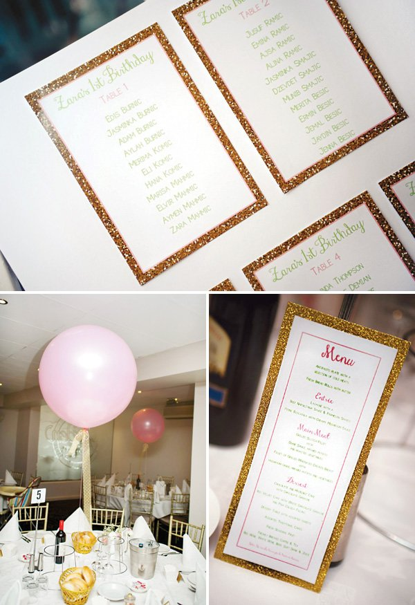gold glitter party printables