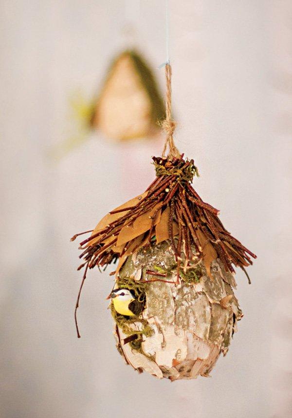 hanging bird's nest party decor