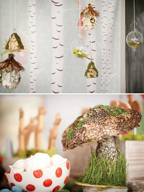 hanging terrarium party decor