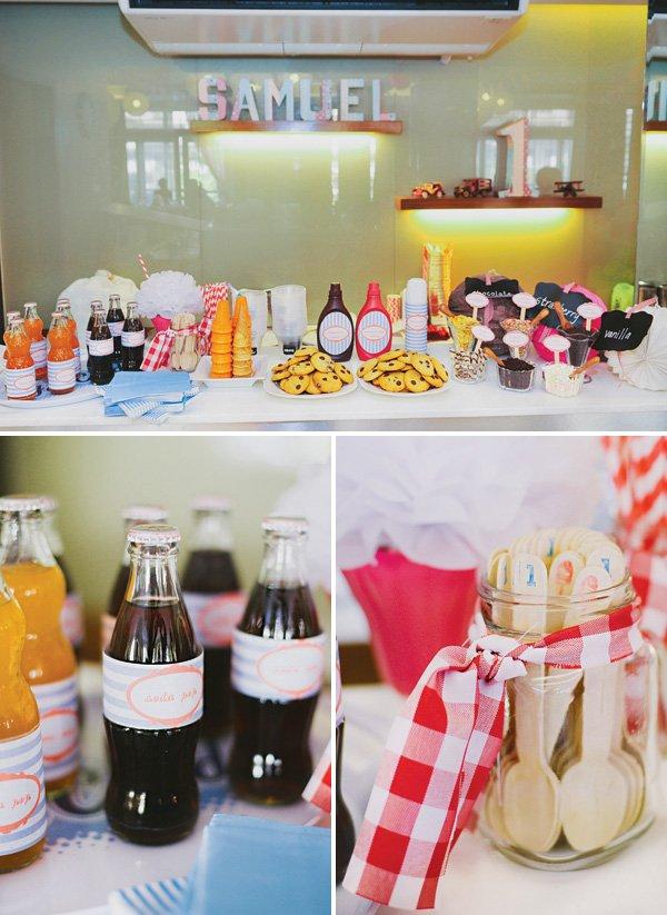 ice cream shoppe birthday party buffet