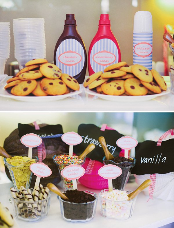 build your own ice cream sundae bar