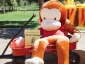 large stuffed curious george monkey