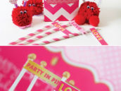 make your own love bug kit and love party flags