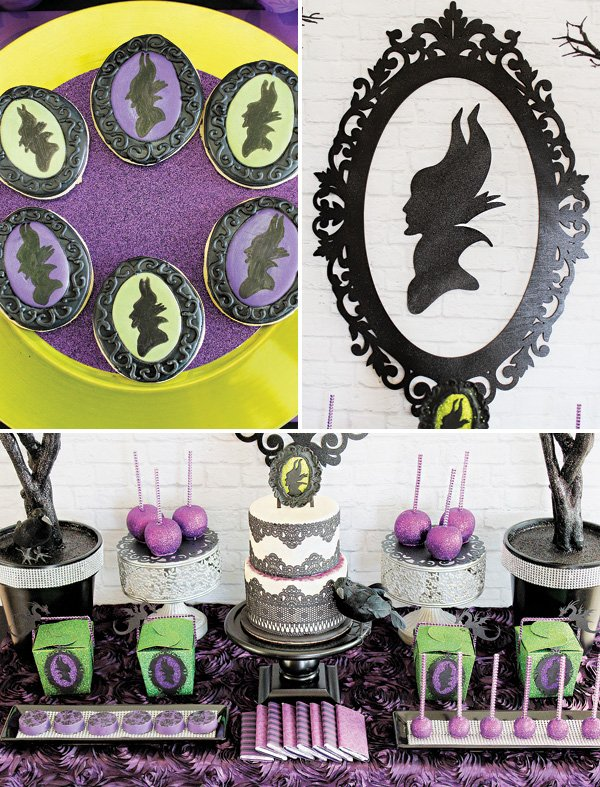 disneys maleficent inspired dessert table hostess with