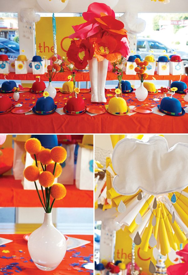 april showers bring may flowers themed birthday party tablescape