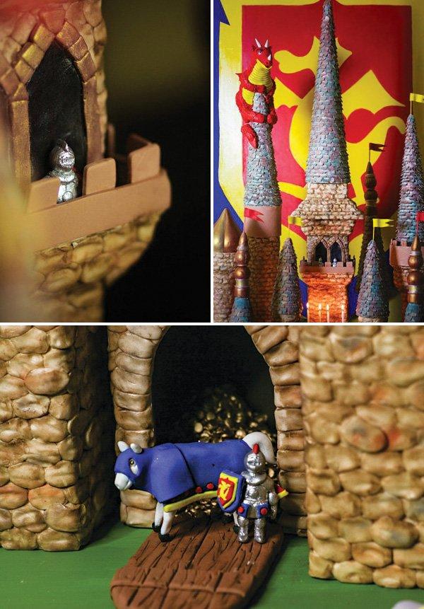 medieval castle cake details