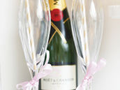 mimosa champagne flute party flags and paper straws