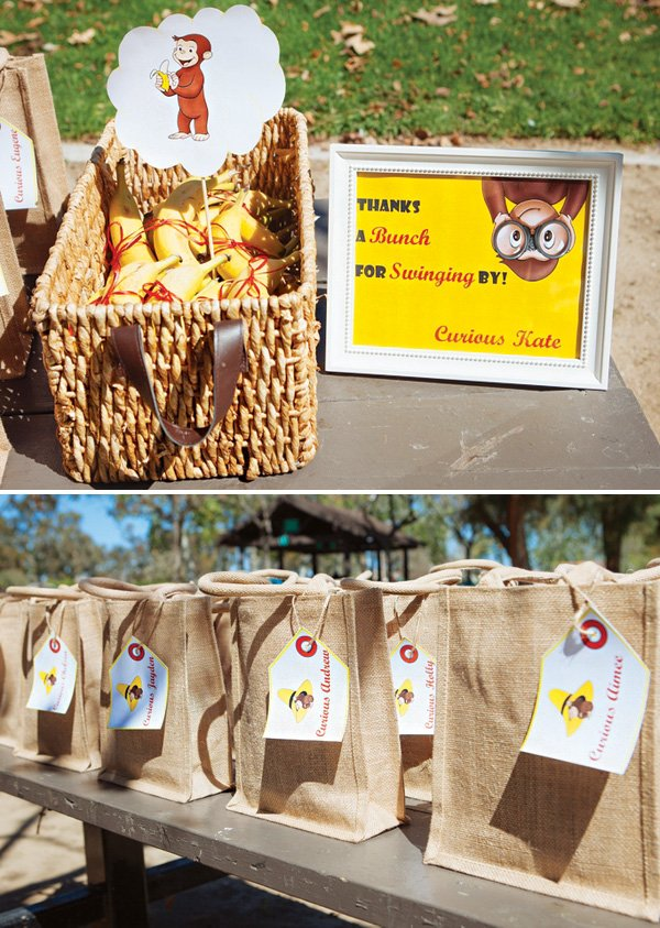 monkey themed party favors