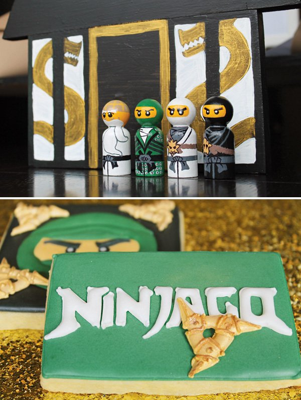 painted ninjago lego characters and ninjago cookies