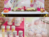Magical Pegasus Unicorn Party - Dessert Table