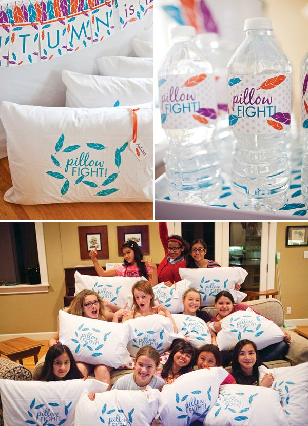 pillow fight pillowcases
