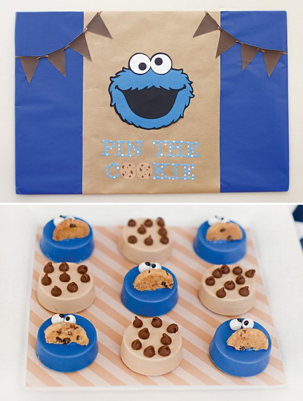 pin the cookie on the monster party game