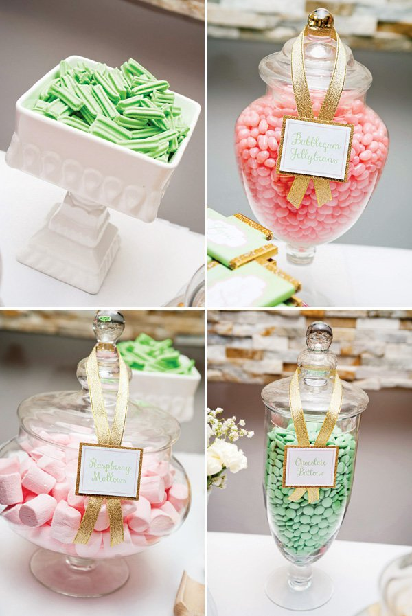 pink and mint candies