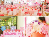pink first birthday party decor
