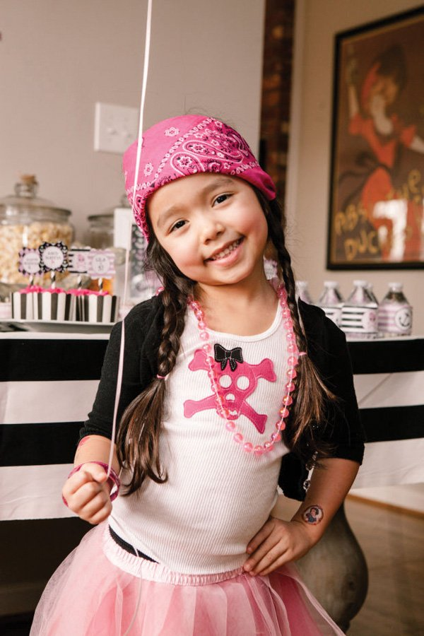 pink girly pirate kid's costume