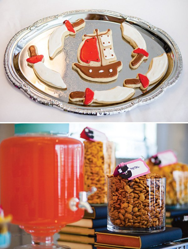 pirate ship and sword cookies