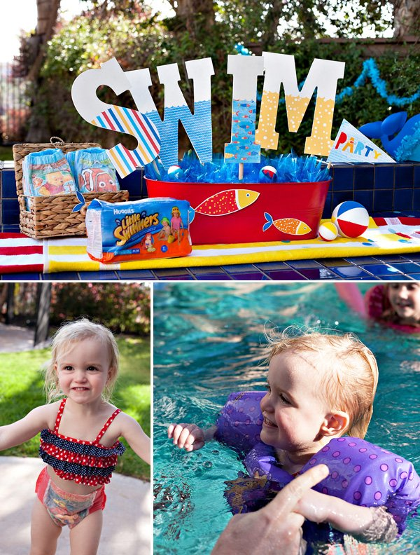 toddler pool party swim centerpieces