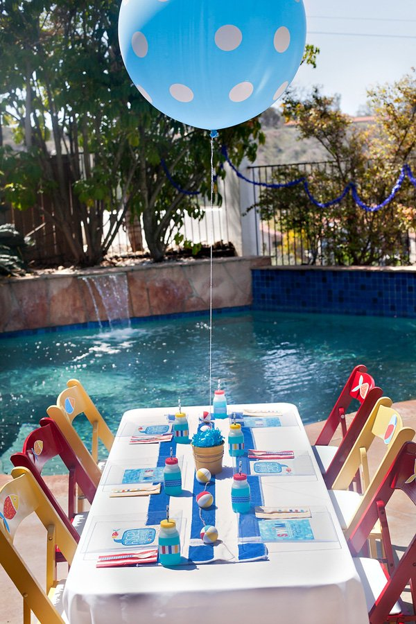 pool party kid's tablescape ideas