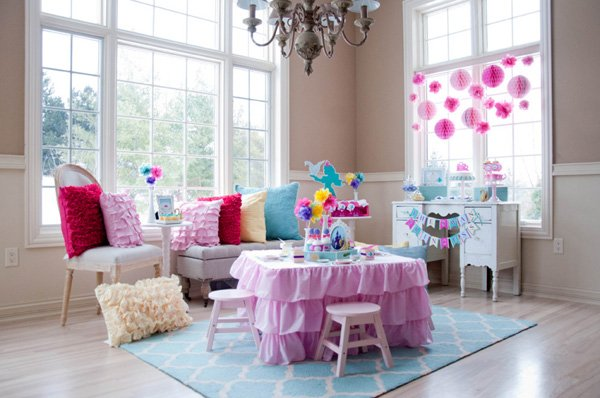 princess party tables