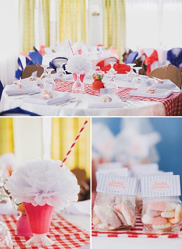 retro soda fountain party decor