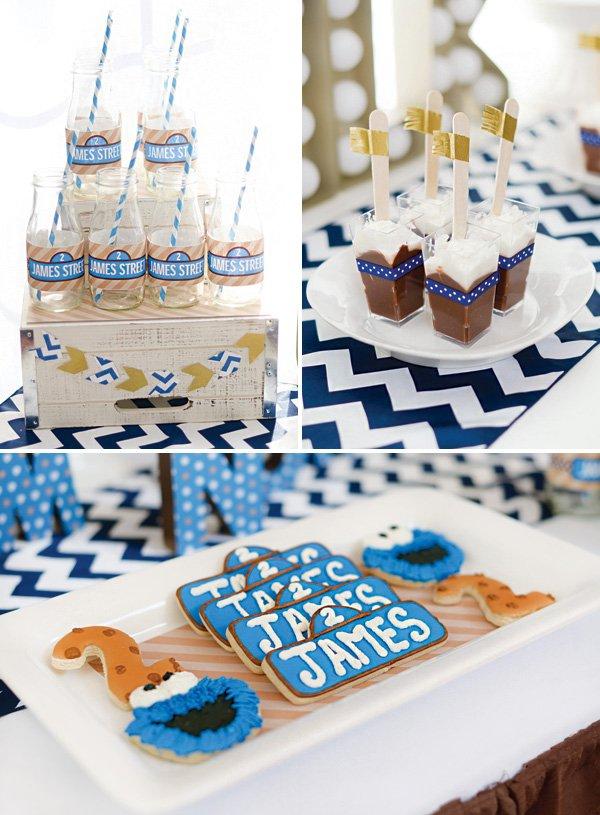 sesame street cookie monster birthday party