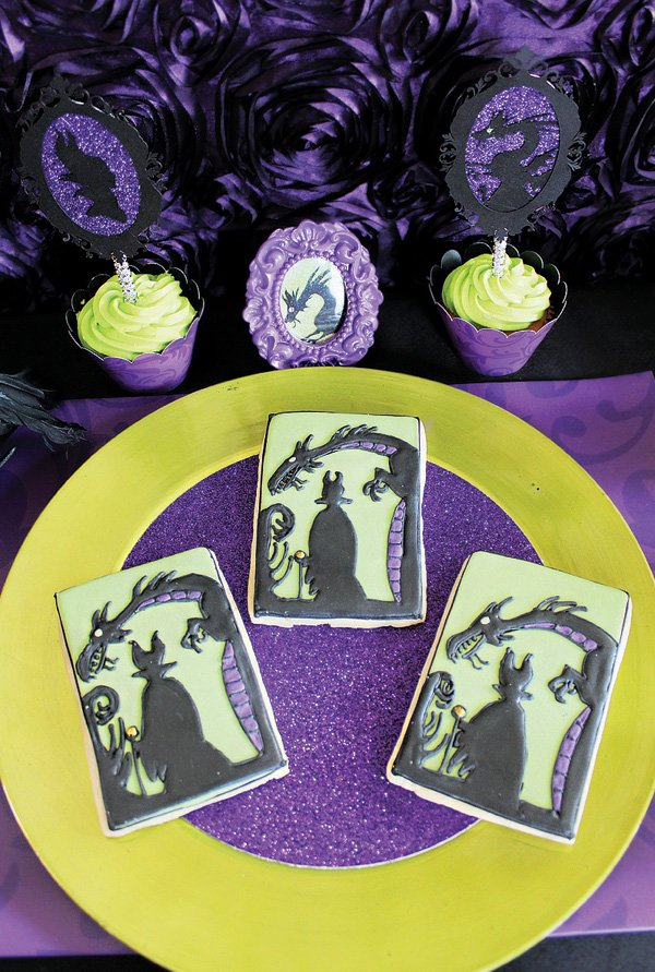 sleeping beauty's maleficent cookies