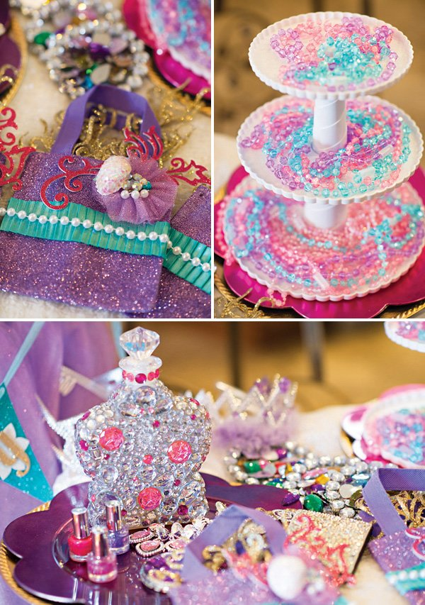 sparkly little mermaid dress up station accessories